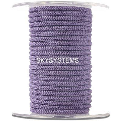 Шелковый шнур Милан 223 | 4.0 мм, Цвет: Фиолетовый 26