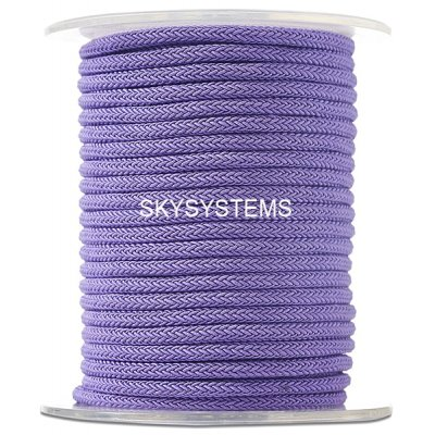 Шелковый шнур Милан 223 | 4.0 мм, Цвет: Фиолетовый 27