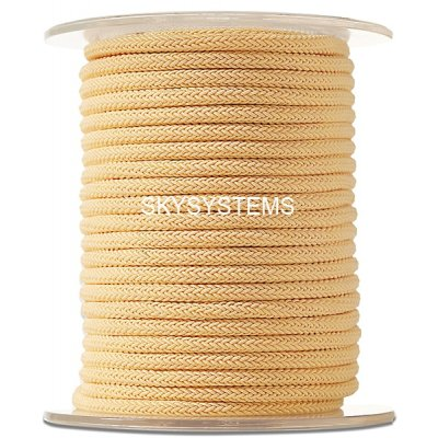 Шелковый шнур Милан 223 | 4.0 мм Цвет: Желтый 12