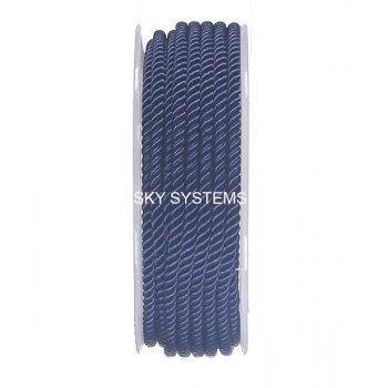 Шелковый шнур Милан 226 | 3.0 мм, Цвет: Синий 07