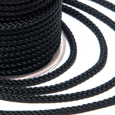Шелковый шнур Милан 229 | 3.0 мм, Цвет: Черный 01