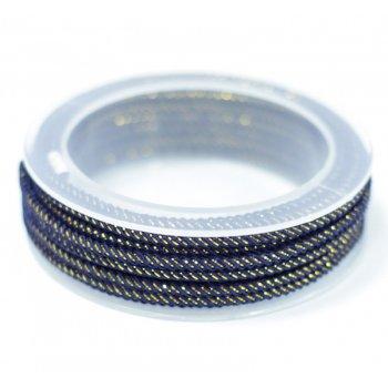 Шелковый шнур Милан 235   3.0 мм Цвет: Синий 07