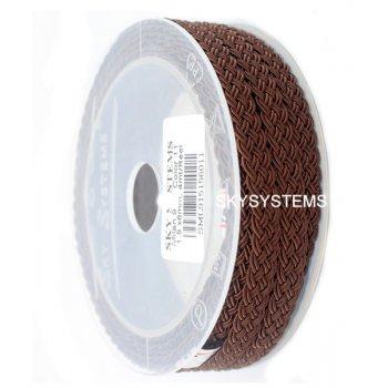 Шелковый шнур Милан 915 | 1.5x6.0 мм Цвет: Коричневый 11