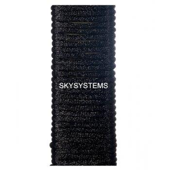 Шелковый шнур гладкий | 1.0 мм Цвет: Черный 102