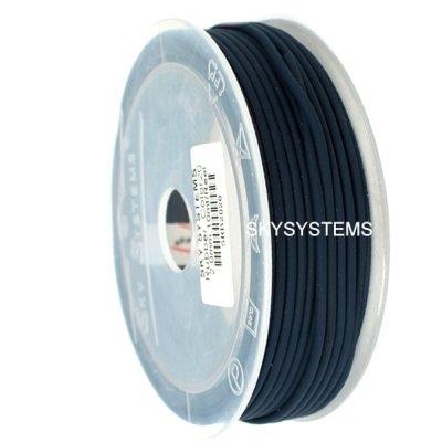Круглый каучуковый шнур 1.5 мм Черный 36