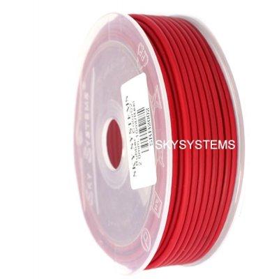 Круглый каучуковый шнур 2.0 мм Красный 02