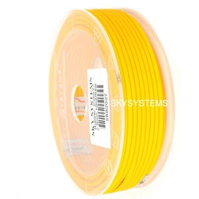 Круглый каучуковый шнур 2.5 мм Желтый 12