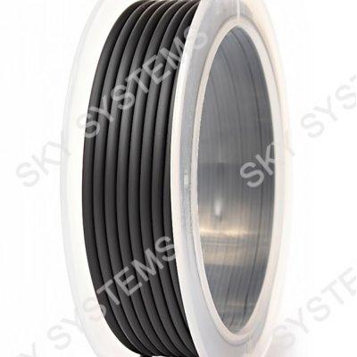 Круглый каучуковый шнур 3.0 мм Черный 36