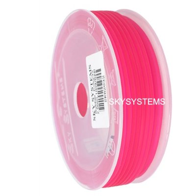 Круглый каучуковый шнур 3.0 мм Розовый 17