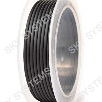 3,5 мм, Каучуковый шнур   Черный 36 (Италия)