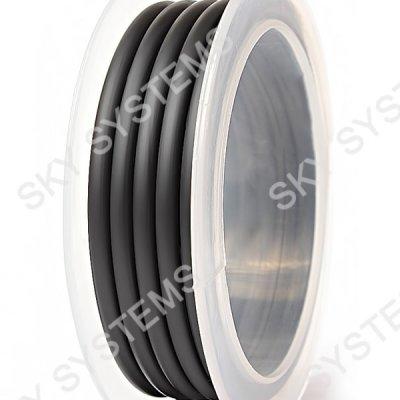 Круглый каучуковый шнур 4.0 мм Черный 36