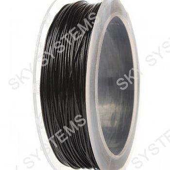 Черный силиконовый шнур 0.8 мм
