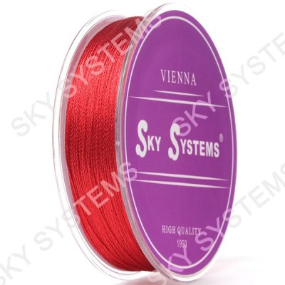 Красные нитки для сережек-кисточек 0,4 мм