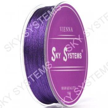 Фиолетовые нитки для сережек-кисточек 0,4 мм