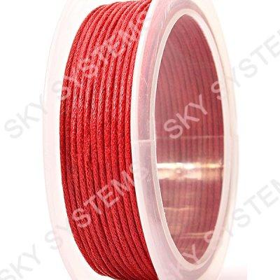 1.0 мм Гладкий вощеный шнур | Цвет: Красный 10