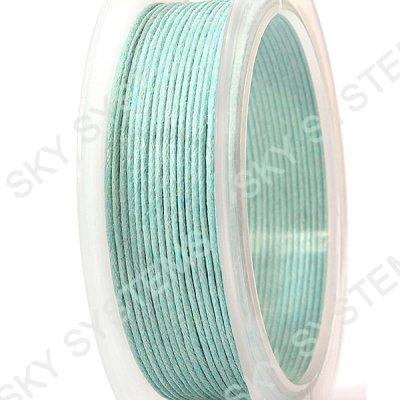 1.0 мм Гладкий вощеный шнур | Цвет: Бирюзовый 07
