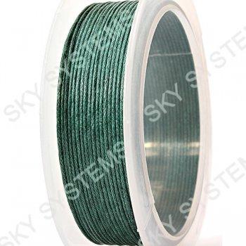 Гладкий вощеный шнур Скай 1.0 мм, Зеленый 07