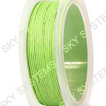Гладкий вощеный шнур Скай 1.0 мм, Салатовый 31