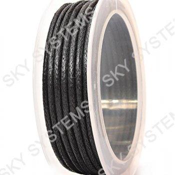 Гладкий вощеный шнур Скай 3.0 мм, Черный 01