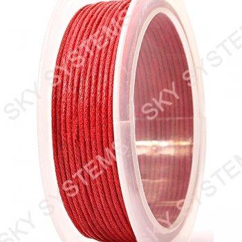 Гладкий вощеный шнур Скай 1.0 мм, Красный 10