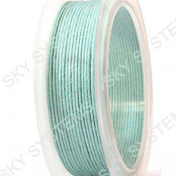 Гладкий вощеный шнур Скай 1.0 мм, Бирюзовый 07