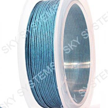 Гладкий вощеный шнур Скай 1.0 мм, Синий 09
