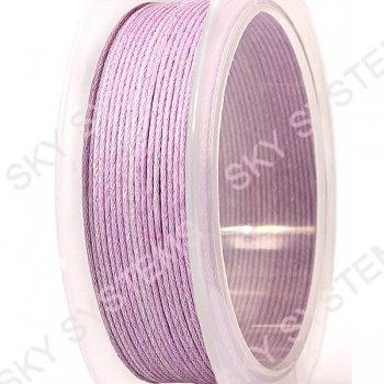 Гладкий вощеный шнур Скай 1.0 мм, Розовый 06