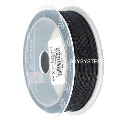 1.0 мм Гладкий вощеный шнур | Цвет: Черный