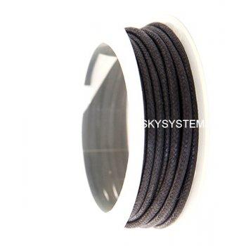 Гладкий вощеный шнур 3.0 мм, Черный