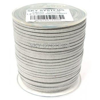 Шнур Алькантара 1.4x3.0 мм Светло-серый 09