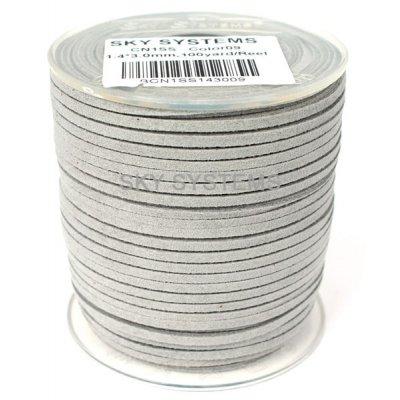 Шнур Алькантара 1.4 x 3.0 мм Светло-серый 09