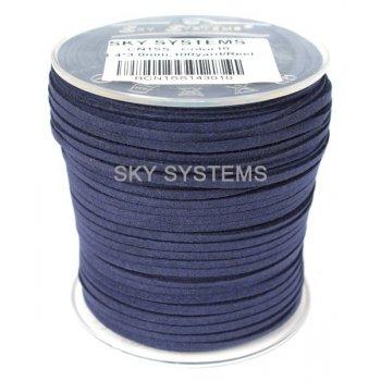 Шнур Алькантара 1.4x3.0 мм Синий 10