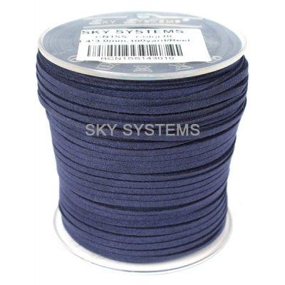 Шнур Алькантара 1.4 x 3.0 мм Синий 25