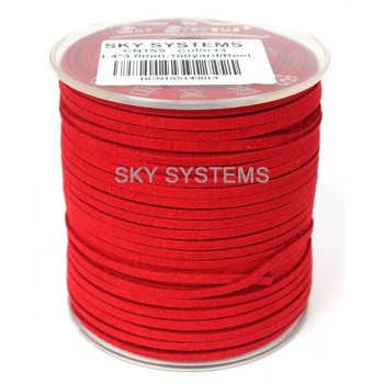 Шнур Алькантара 1.4x3.0 мм Красный 13