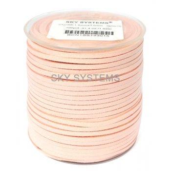 Шнур Алькантара 1.4x3.0 мм Бледно-розовый 15