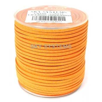 Шнур Алькантара 1.4x3.0 мм Оранжевый 17