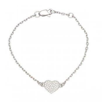 Серебряный браслет Сердце
