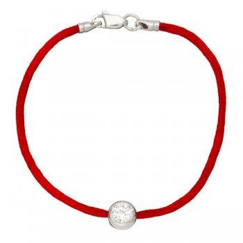 Шелковый браслет Каст с серебряной застежкой