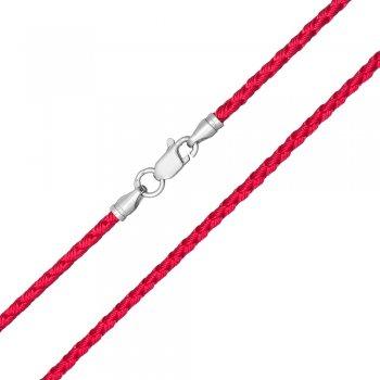 Шелковый шнурок Милан 2016 с серебром | Цвет: Малиновый (2,5 мм)