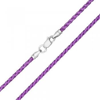 Шелковый шнурок Милан 2016 с серебром | Цвет: Сиреневый (2,5 мм)