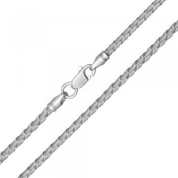 Шелковый шнурок Милан 2016 с серебром | Цвет: Серебрянный (2,5 мм)