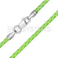 Шелковый шнурок Милан 2016 с серебром | Салатовый (3,0 мм)