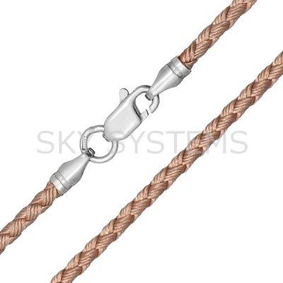 Шелковый шнурок Милан 2016 с серебром   Золотой (2,5 мм)