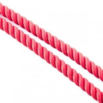 Шелковый красный шнурок с гладкой серебряной застежкой (3мм)