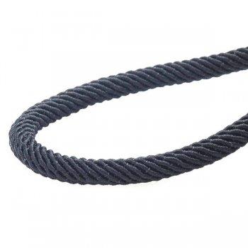 Шелковый шнурок с гладкой серебряной застежкой (4мм)