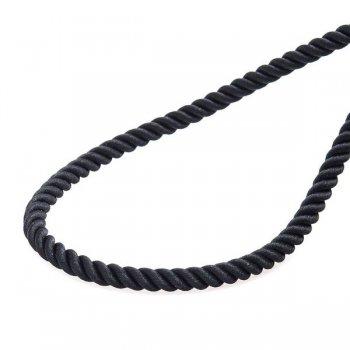 """Шелковый шнурок """"Спаси и сохрани"""" с серебряной позолоченной застежкой (4мм)"""