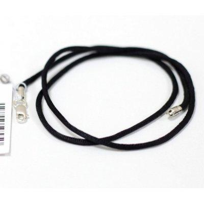 Колье гладкий шелк | 3.0 мм, Цвет: Черный