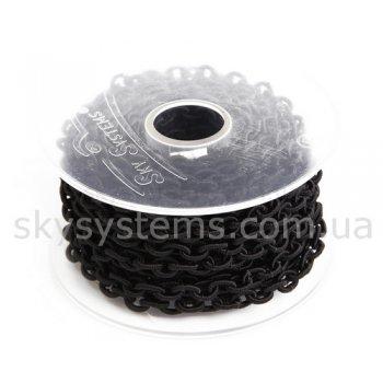 Черная шелковая цепь 6,0 х 8,0 мм
