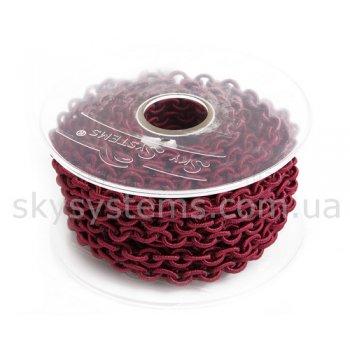 Бордовая шелковая цепь 6,0 х 8,0 мм