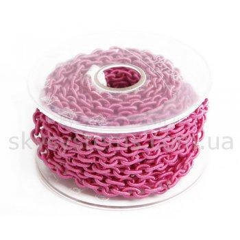 Розовая шелковая цепь 6,0 х 8,0 мм